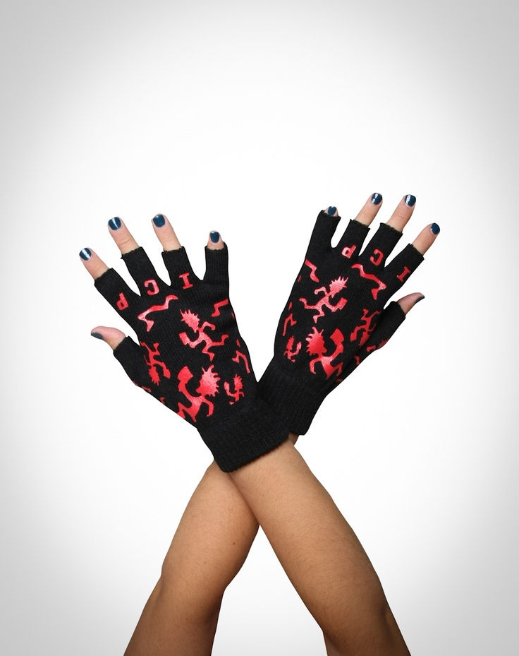 Insane Clown Posse gloves i created for Bioworld. Available at Spencer's fall 2011.
