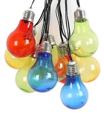 Tropical Days Multi Coloured Battery Operated LED Light Bulb Garland String