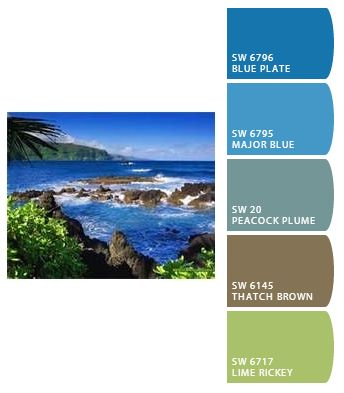 beach inspired spa colors