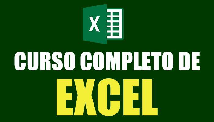 Curso de Excel, para que aprendan.