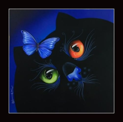 Cats by Irina Garmashova.Cat Art, Cat Magic, Animal Art, Magic Cat, Irina Garmashova, Crazy Cat, Art Cat, Black Cat, Cat Lady