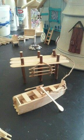 how to make a house boat out of popsicle sticks