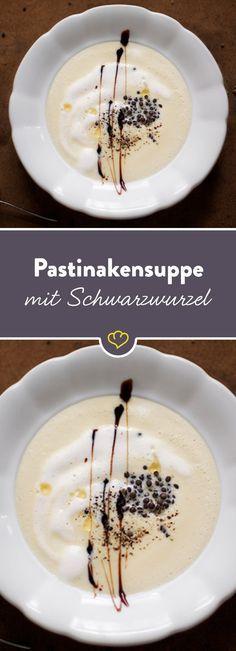 Schon mal Schwarzwurzel gegessen? Aufgrund ihres hohen Stärkeanteils besonders lecker als Suppe - mit Pastinake ein Gedicht.