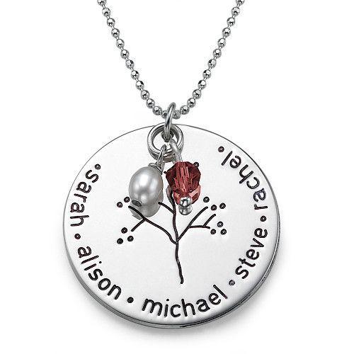 Sterling Silver Family Tree Necklace   MyNameNecklace