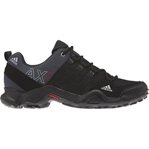 Adidas Men's AX 2 Hiking Shoes - Dark Shale/ Black/ Light Scarlet 11