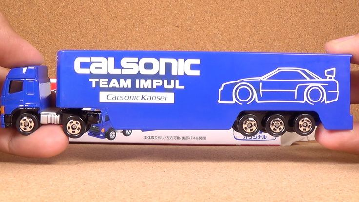 Tomica Toys R Us Exclusive Calsonic Racing Transporter (Takara Tomy Japa...