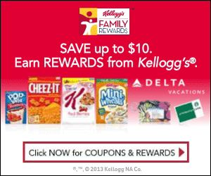 NEW Kellogg's Family Rewards Code for 100 FREE Points ~ plus  a list of the active codes available! ► http://www.thecouponingcouple.com/new-kelloggs-rewards-code-for-6-28-14-100-free-points/