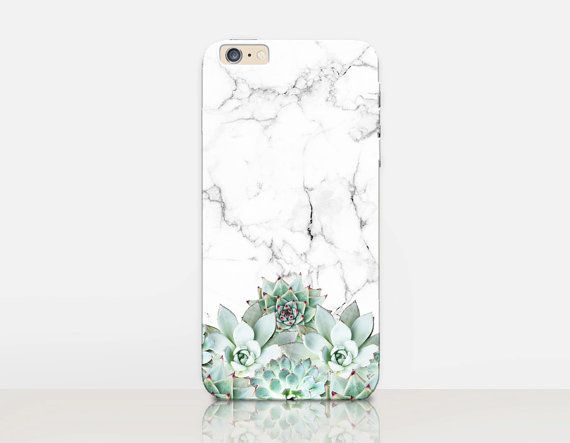 Succulent Marble Phone Case- iPhone 6 Case - iPhone 5 Case - iPhone 4 Case…