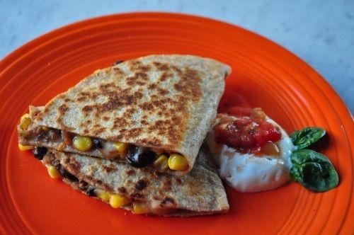 11. Black Bean and Corn Quesadillas #quick #healthy #recipes http://greatist.com/eat/10-minute-recipes