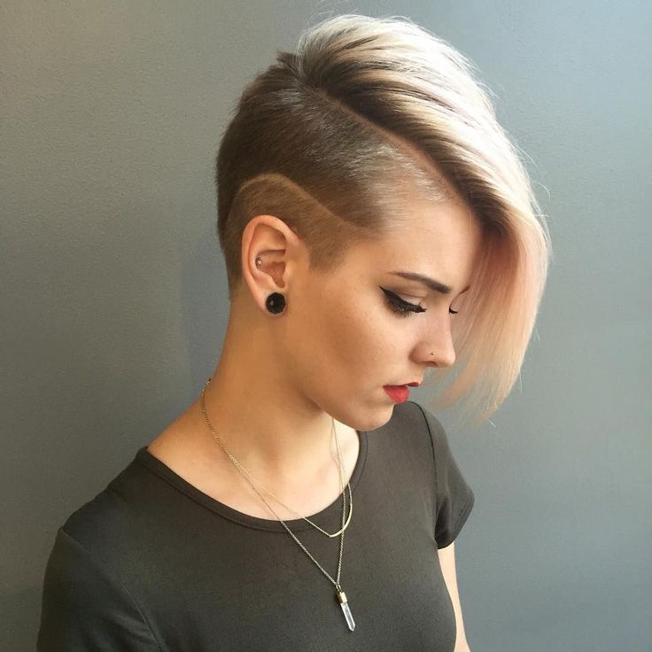 The 25+ best Women\'s shaved hairstyles ideas on Pinterest | Short ...