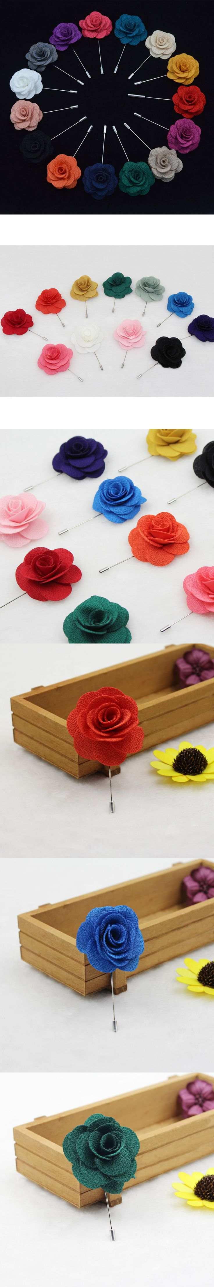 Men Corsage Groom Boutonniere Pin Wedding Lapel Flower Brooches Suits Decoration BWTQN0003