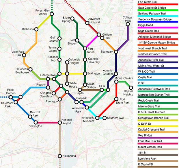 These Bike Path Maps Are Designed To Look Like Subway Routes