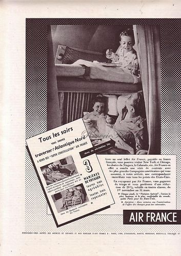 Original Vintage French Ad Air France Airlines by reveriefrance