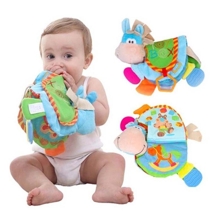 赤ちゃんガラガラおしゃぶりおもちゃベビー布帳のおもちゃ幼児静かなブックおもちゃの動物の人形でbb早期開発赤ちゃんのおもちゃ0から12ヶ月