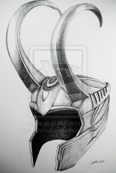Loki's Helmet by AralisJ.deviantart.com on @deviantART
