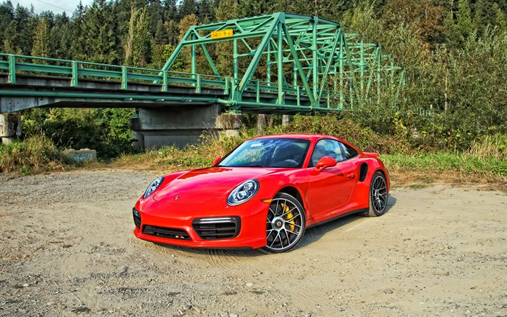 Download wallpapers Porsche 911 Carrera, supercars, red Carrera, german cars, Porsche