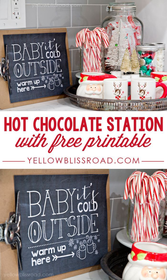 Free Printable Hot Chocolate Station