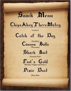 pirates of the caribbean party food - Google Search