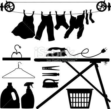 laundry basket siluet pictures | Laundry Silhouettes - Illustration
