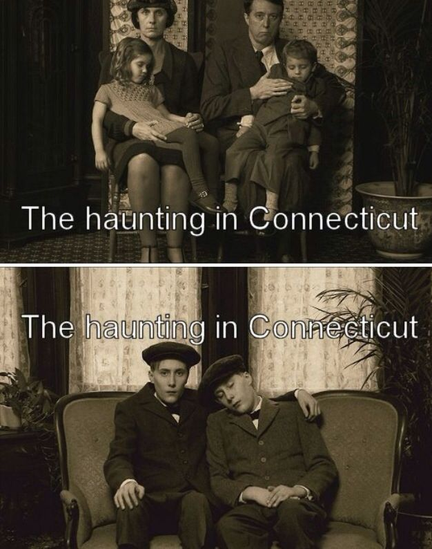 """Staged photos for a movie called, """"The Haunting in Connecticut"""".  These are actors and no one is dead.   See this page: http://www.chud.com/20345/dvd-review-haunting-in-connecticut-the/"""