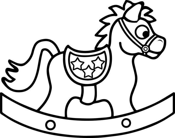 horse toy coloring page wecoloringpage - Baby Rocking Horse Coloring Pages