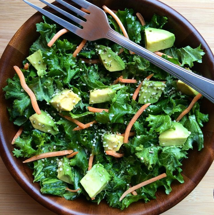 kale carrot avocado salad | So Many Salads | Pinterest