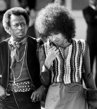 Miles Davis, American jazz musician & funk and soul musician Betty Davis, his wife of one year.