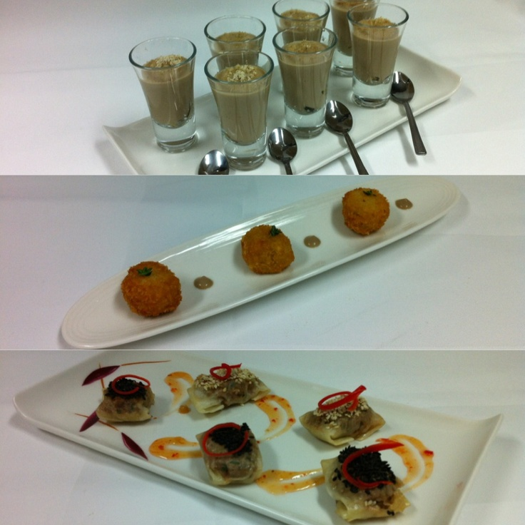 Collage work of canapes