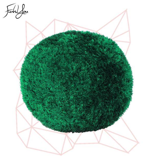 Fuzz Ottoman - Green www.funkyou.com.au