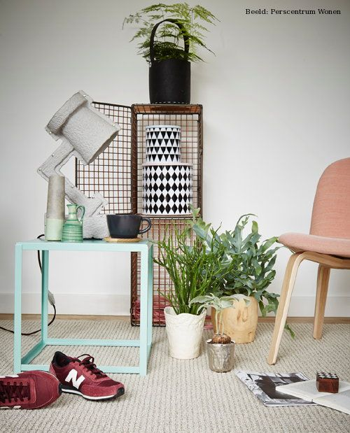 Side table FORTYFORTY in mint @ Summer Home Decor Trend Noorderlicht – Scandinavic Design // www.e15.com #e15 // www.e15.com #e15