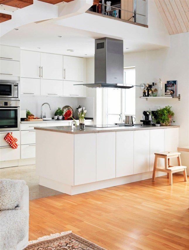 26 besten Küche mit Kochinsel Bilder auf Pinterest Lofts - weiss kche mit kochinsel