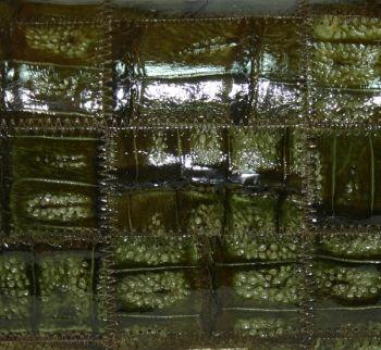 #Bolso de cocodrilo autentico en color verde caqui. Modelo Sibaris