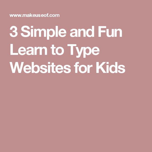 3 Simple and Fun Learn to Type Websites for Kids
