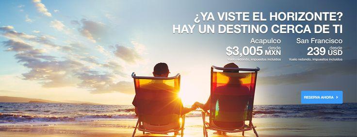 Vuelos a destinos nacionales e internacionales   Aeromexico