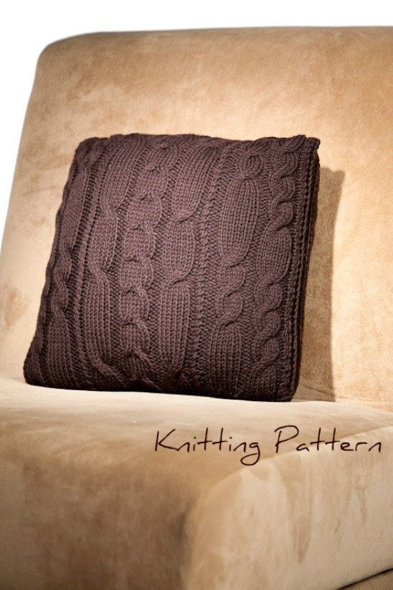 Variegated Cable Pillow Knitting Pattern by NadineMcLeodDesigns, $5.00