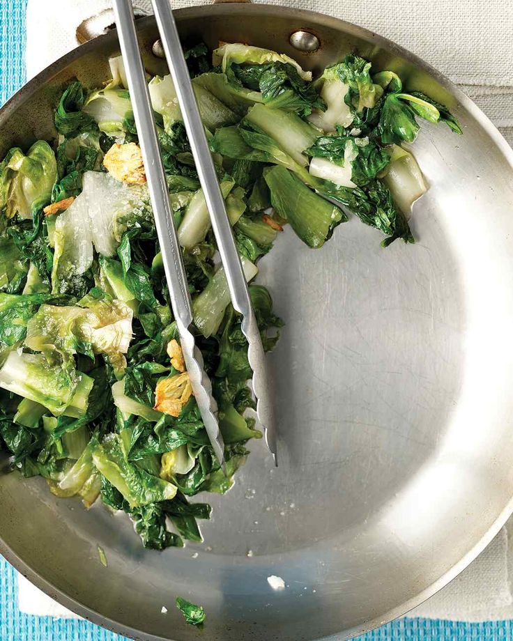 Sauteed escarole is great paired with our recipe for Spice-Rubbed Turkey Breast with Sweet Potatoes.