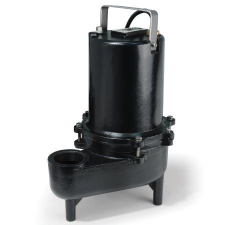 Eco-Flo ESE60M Products .6 HP Submersible Cast Iron Sewage Pump - Manual Switch, Black