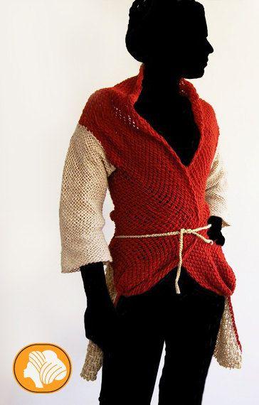 Abrigo de lana estilo kimono renacentista por Ullvuna en Etsy