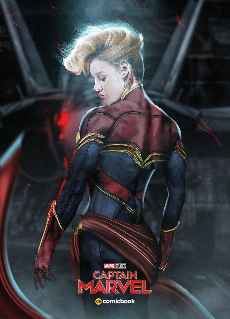Capitã Marvel - Nova arte de fã mostra Brie Larson com o mohawk da heroína…