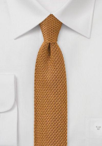 Seiden-Krawatte gestrickt orange
