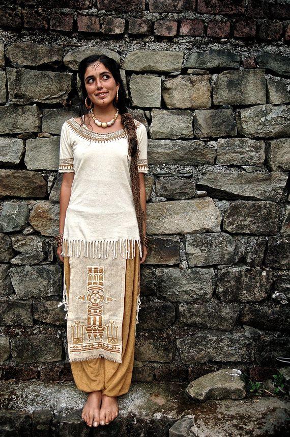 Camisa de cáñamo orgánico nativo americano y por AnuttaraCrafts