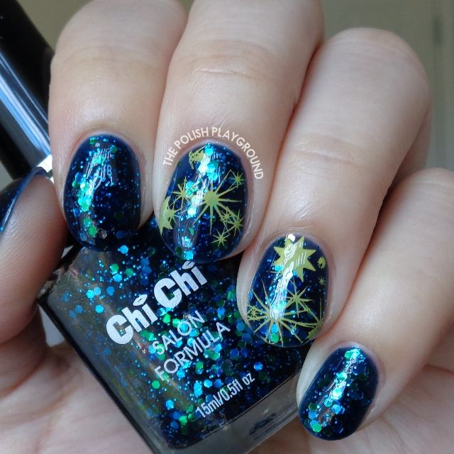 Abstract Galaxy Inspired Stamping