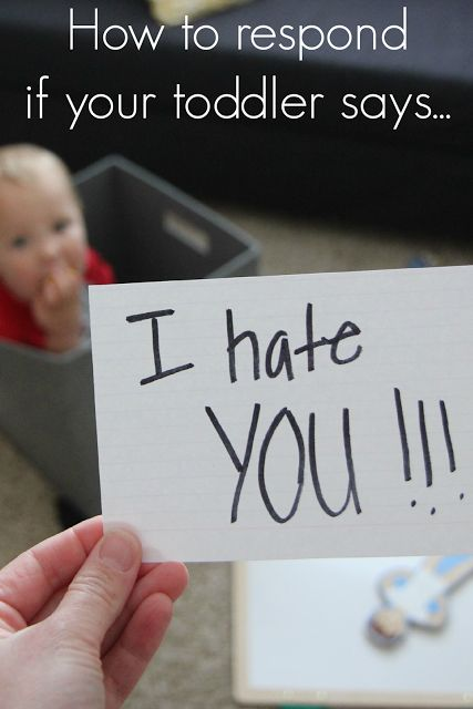 """How to respond to """"I hate you"""" from your toddler"""