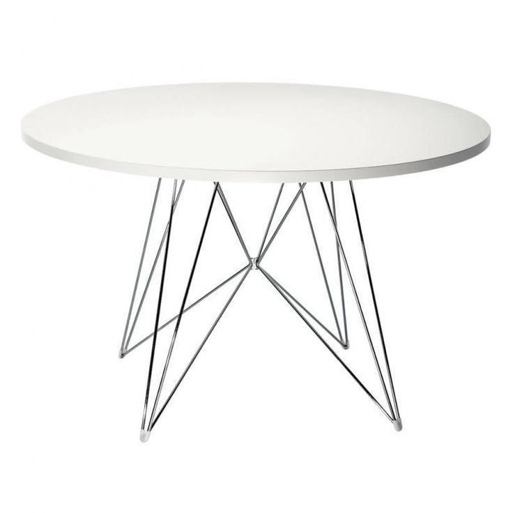 Magis   Tavolo XZ3 Tisch Rund   Weiß/Gestell Chrom/Ø 120 Cm