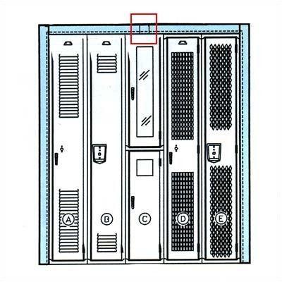 Penco Locker Parts -Trim Splice (Set of 3) Color: Sagebrush Yellow