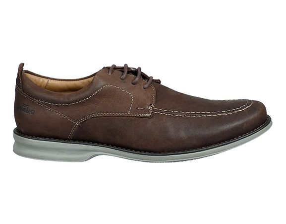 SAMELLO - Casual esquel leather brown shoes. Made in Brazil.