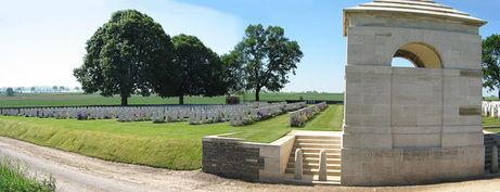 Private Joe Dingsdale is buried near the village of Courcelette in the Somme district of France, in Courcelette British Cemetery. There the grave of Private Dingsdale is one of 1,970 Commonwealth servicemen buried near the scene of battle during the war. Like other military cemeteries in Europe, the graves of those who are buried there are cared for in perpetuity. For more: www.elinorflorence.com/blog/somme-casualty.