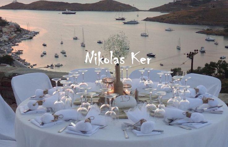 Centerpiece, favors, flowers handmade by Nikolas Ker! Η εκπληκτική θέα του Aigis Suites έδινε μια ονειρεμένη πινελιά στη πιο ξεχωριστή μέρα της Μαρίας & του Μάριου! www.nikolas-ker.gr