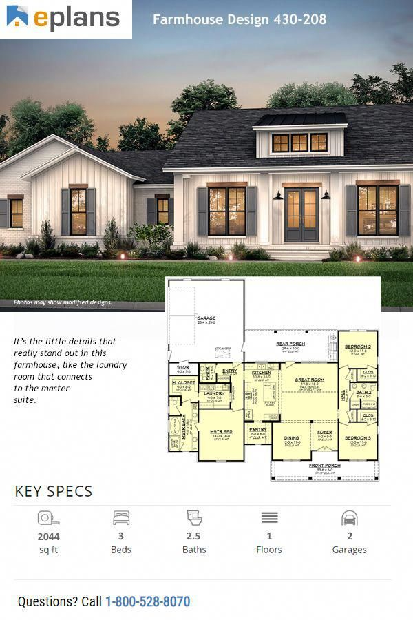 Pin By Robin Delozier On Home In 2020 Farmhouse Style House Plans Modern Farmhouse Plans Farmhouse Style House