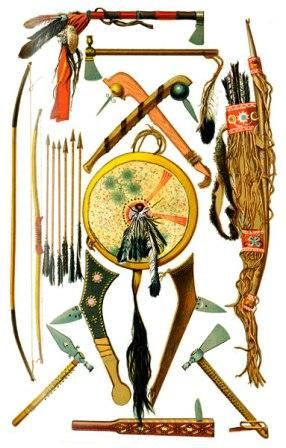 Native Indian Weapons and Tools.Vast Libray of info on Native Indians